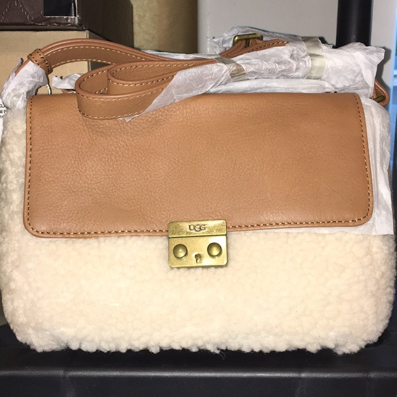 a20070d4f14 New Ugg Chestnut Vivienne Sheepskin small bag❤️🌹 NWT